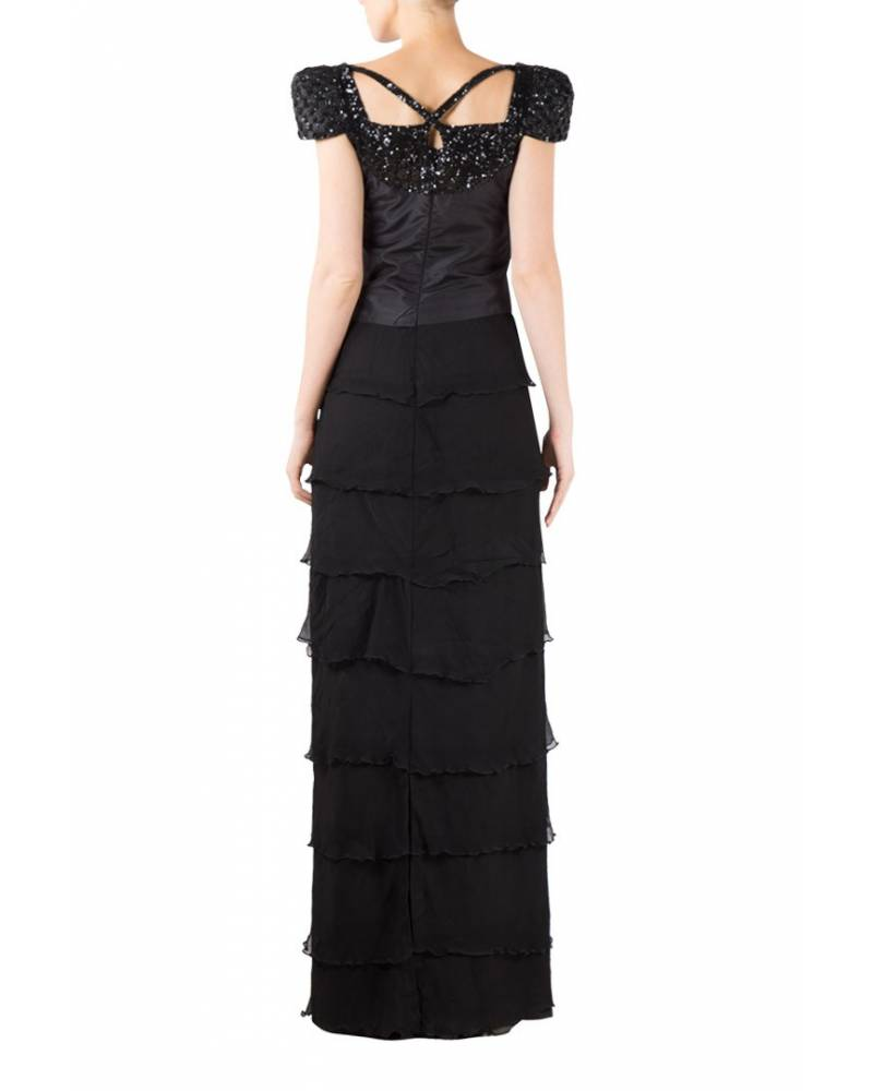 cce835dfddda Black Chiffon Tier Gown|Designed by mapxencaRS - Riddhi & Siddhi